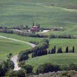 The landscape of the Val d'Orcia. Tuscany. Italy — Stockfoto
