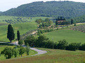The beautiful landscape of Tuscany. — Stock Photo