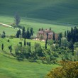 The landscape of the Val d'Orcia. Tuscany. Italy - Stock Photo