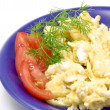 Foto Stock: Scrambled eggs