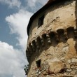Corner tower  of  ancient castle — Stock Photo