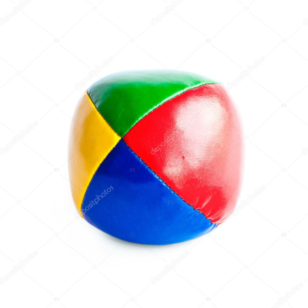 Close-up of colorful juggling ball isolated on white background  Stock Photo #2783325