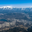 Aerial view of Trento valley — Stock Photo #2895254
