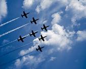 Seven jet airplanes — Stock Photo