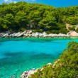 Blue lagoon in Adriatic Sea — Stock Photo