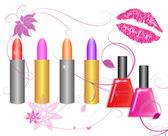 Cosmetics Isoalted on White — Stock Photo