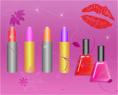 Kosmetika na hvězdném pozadí — Stock fotografie
