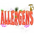 Stock Photo: Allergens Typography
