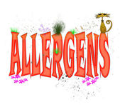 Allergens Typography — Stock Photo