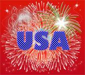 Patriotic Fireworks — Stock Photo