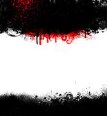 Black Grunge Goth Frame With Blood Spatter — Stock Photo