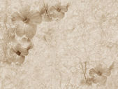 Vintage grunge textured paper with floral ornament — Stock Photo