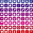 Collection of 64 vector icons - Stock vektor