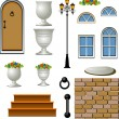 Royalty-Free Stock Imagen vectorial: Vector Home Building Components