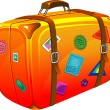 Royalty-Free Stock Vector Image: Travel suitcase with stickers