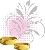 Hochzeitsringe — Stockvektor