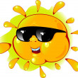 Royalty-Free Stock Vector Image: Cartoon sun in a sunglasses