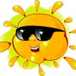 Cartoon sun in a sunglasses - Stock Vector