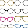 Collection glasses for every taste - Imagens vectoriais em stock