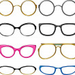 Collection glasses for every taste — Imagen vectorial