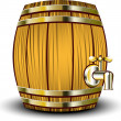 Stock Vector: wooden barrel