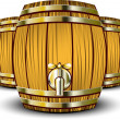 Wooden Barrels — Stock Vector