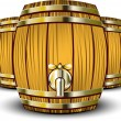 Wooden Barrels — Stock Vector #3686720