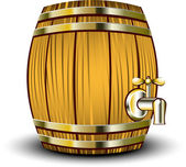 Wooden barrel — Stock Vector
