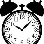 clásico reloj de alarma — Vector de stock