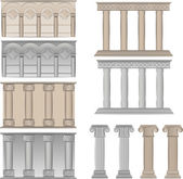 Pillars and columns vector illustratio — Stock Vector