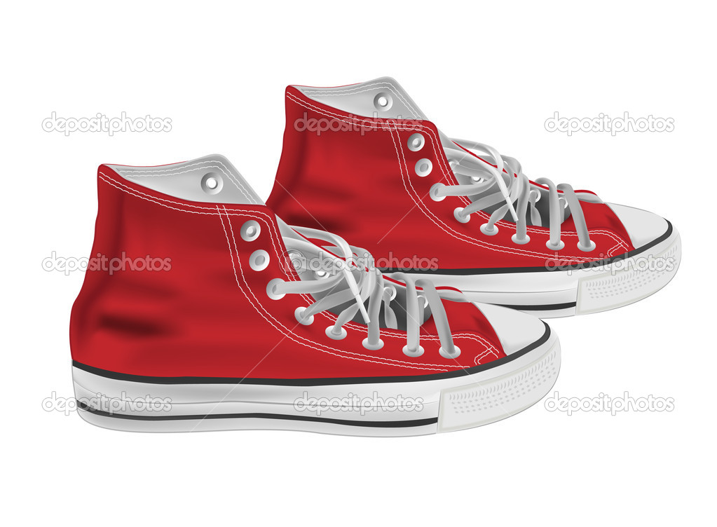 Athletic shoes vector illustration  — Stock Vector #3422684