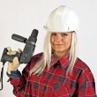 Stock Photo: Construction worker women