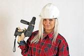 Construction worker women — Stock Photo