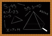 Black board in a wooden frame - vector — Stock Vector