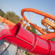 Slide in water park with pool - Stockfoto
