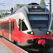 Red train at station — Stock Photo #2977682
