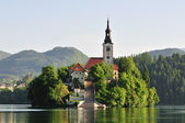Santa Maria Church - Bled — Stock Photo