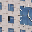 Stock Photo: Clock and windows