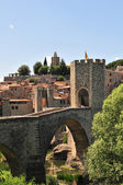 Besalu Medieval bridge — Stock Photo