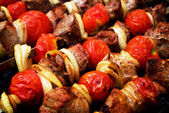Shish kebab - barbecue — Stock Photo