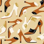 шаблон бесшовные на высоких каблуках — Cтоковый вектор