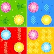 Royalty-Free Stock ベクターイメージ: Seamless oriental style patterns