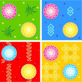 Seamless oriental style patterns — Stock Vector