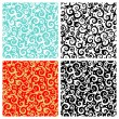 Seamless scrolls patterns - Stock Vector