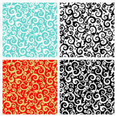 Seamless scrolls patterns — Stock Vector