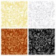 Stock vektor: Seamless floral patterns