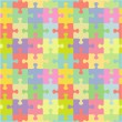 Seamless jigsaw puzzle pattern — Stock Vector