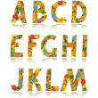 Autumn alphabet set letters A - M — Stock Vector #3309680