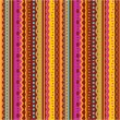 Seamless stripes and laces pattern of autumn colors - Image vectorielle