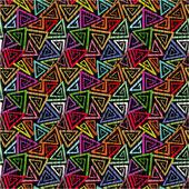 Abstracte naadloze grunge geometrische patroon — Stockvector